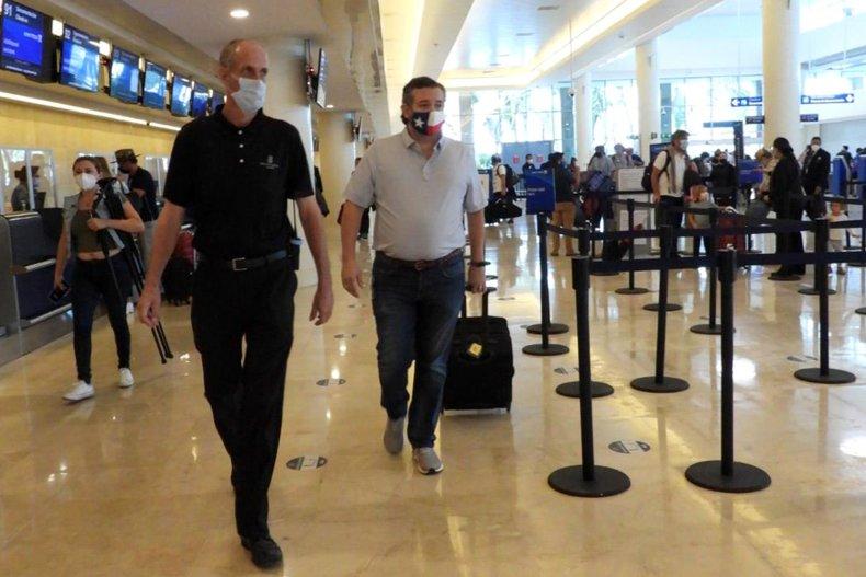 Senator Ted Cruz at Cancun International Airport
