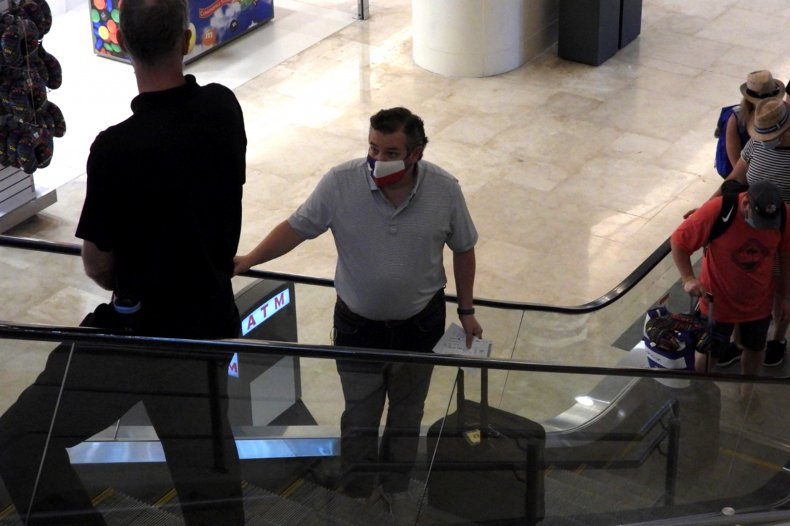 Texas Senator Ted Cruz at Cancun Airport
