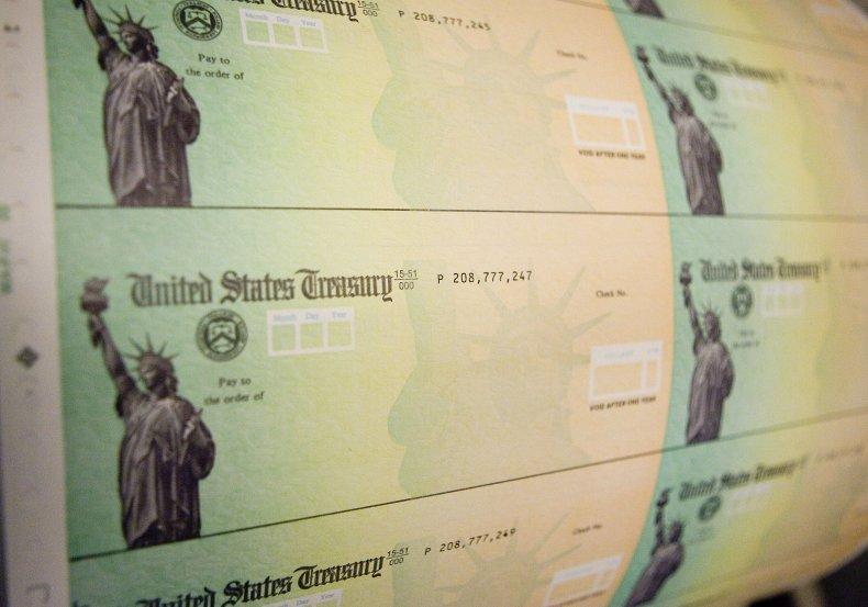 PHILADELPHIA - MAY 8: Economic stimulus checks