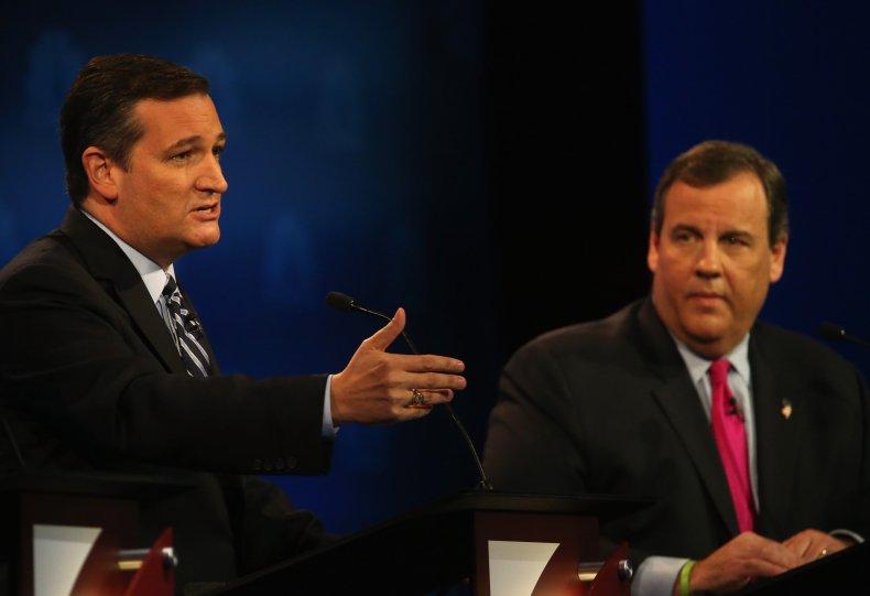 Sen Ted Cruz and Chris Christie