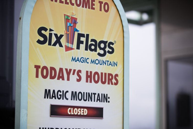 Six Flags Magic Mountain Closed Last March