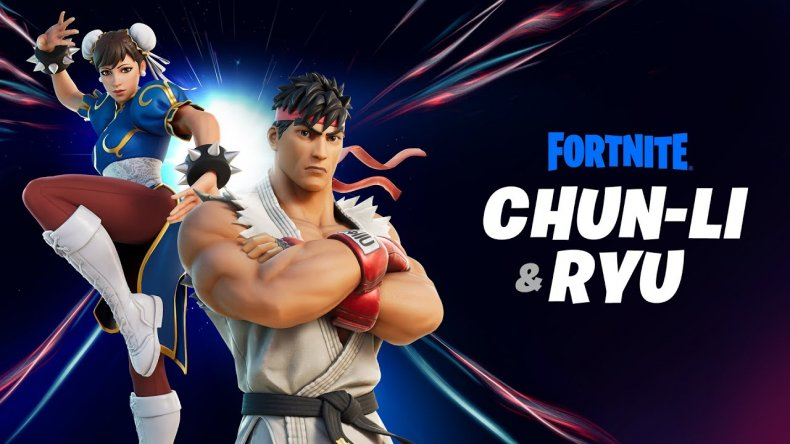 fortnite ryu and chun li skins today