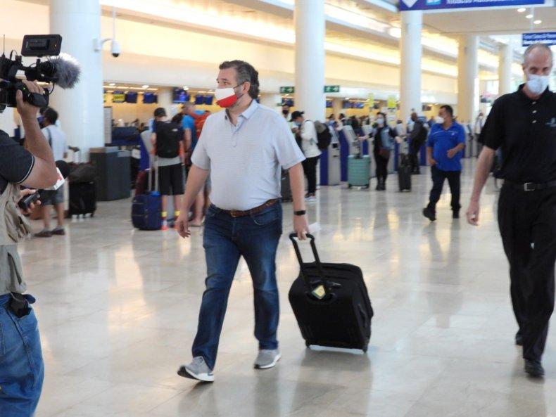 Texas Sen Ted Cruz in Cancun