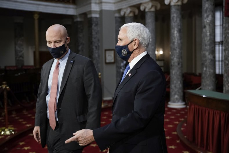 Marc Short with Mike Pence