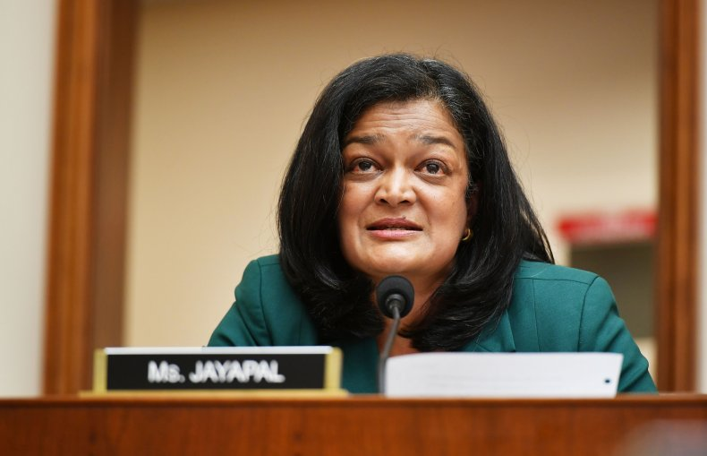 Rep. Pramila Jayapal, D-WA, speaks during the