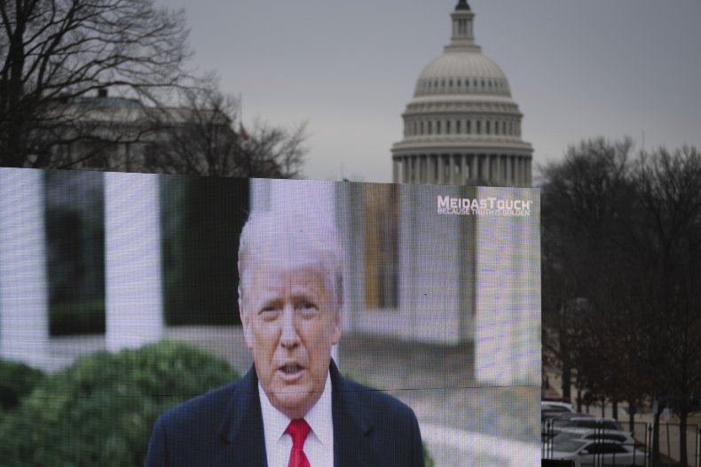 Donald Trump billboard in D.C. amid Impeachment