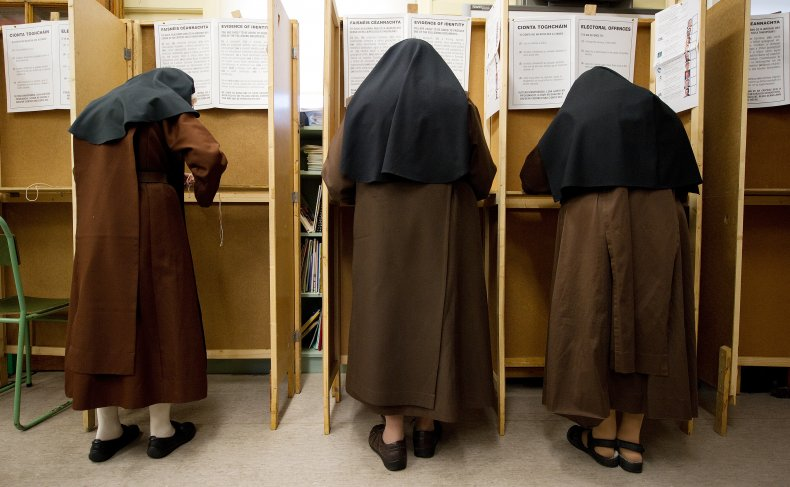 Nuns vote in Ireland