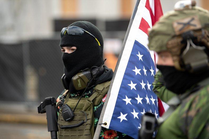 Boogaloo boys outside Salem Capitol extremism