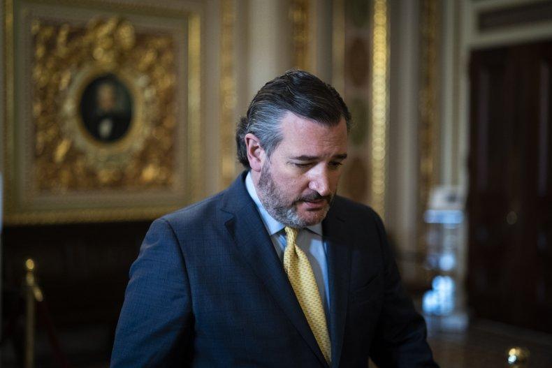 Ted Cruz attends Trump's impeachment trial