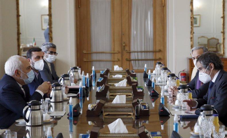 Zarif meets IAEA Grossi in Tehran, Iran