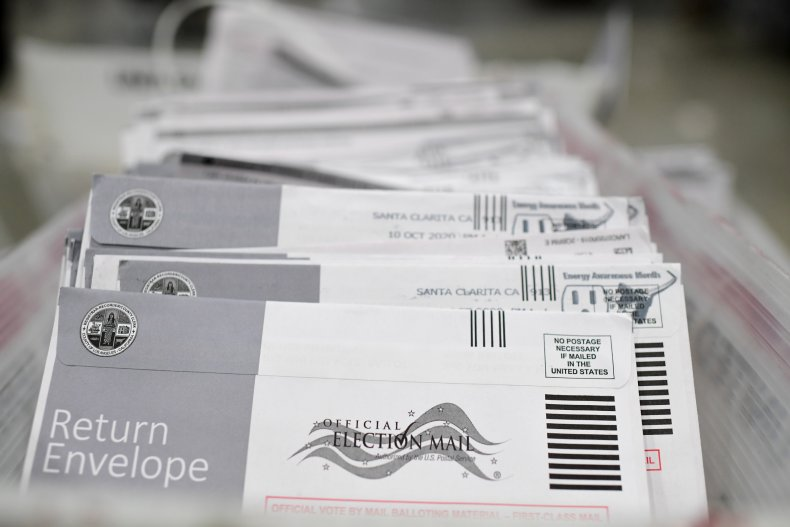 Mail-in ballots California