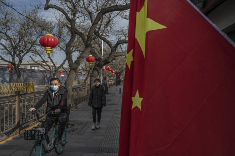People pictured in Beijing China during NewYear