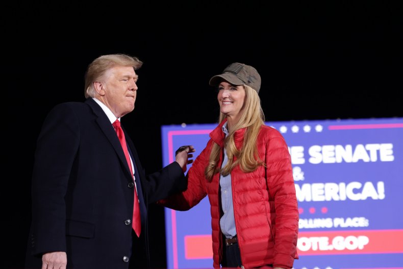 Donald Trump and Kelly Loeffler in Georgia