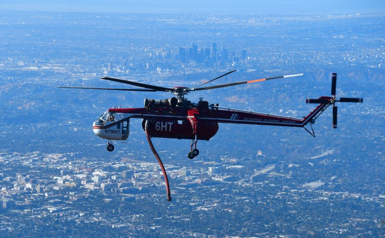 Los Angeles helicopter October 2017