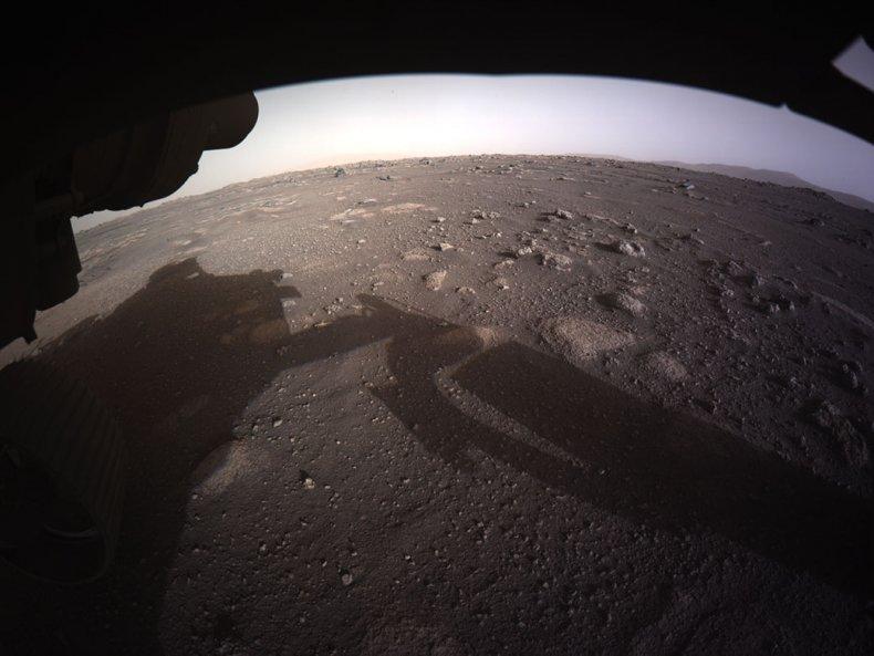 Martian surface taken aboard Perseverance