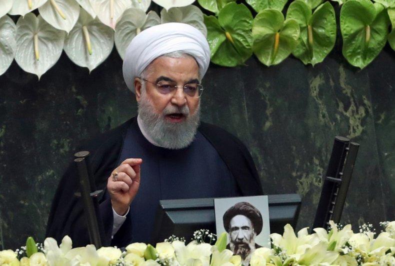 Hassan Rouhani addresses Iran parliament