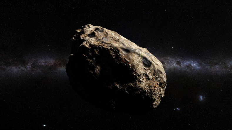 An artist's impression of an asteroid