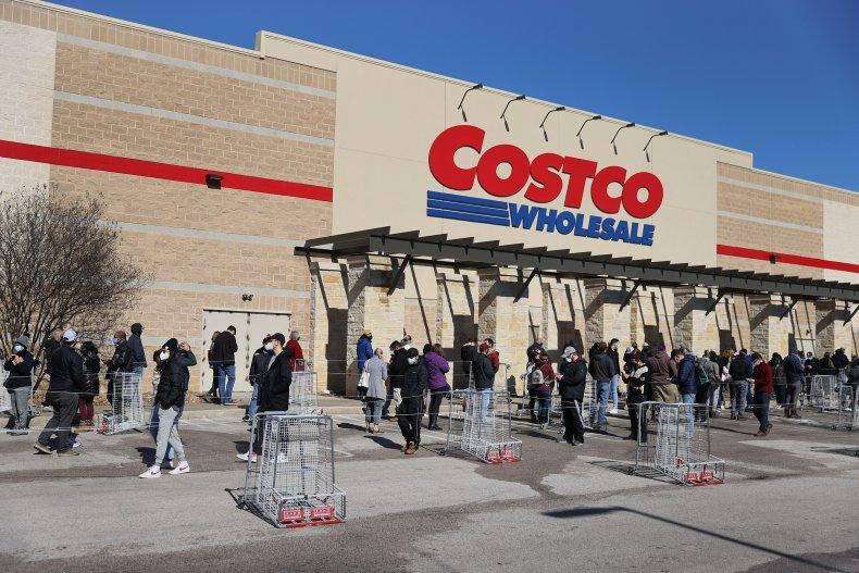 Costco in Austin, Texas February 2021