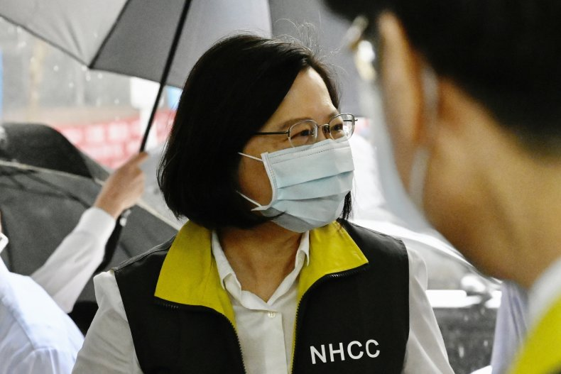 Taiwan President Visits Taipei CDC Headquarters