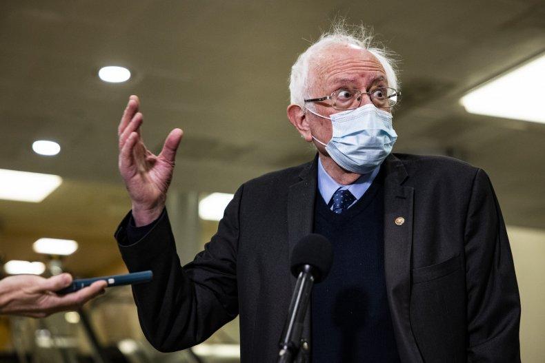 Senator Bernie Sanders press February 2021