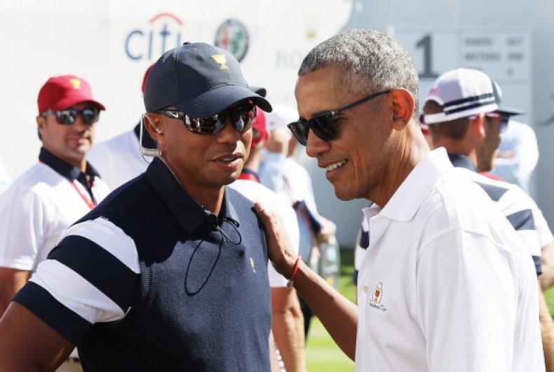 Tiger Woods and Barack Obama
