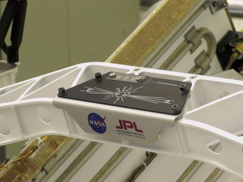 NASA name plate