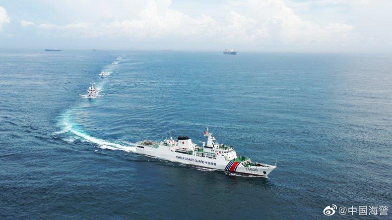 China Coast Guard Vessels Patrol Seas