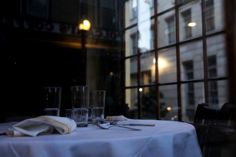 Empty Boston restaurant April 2020