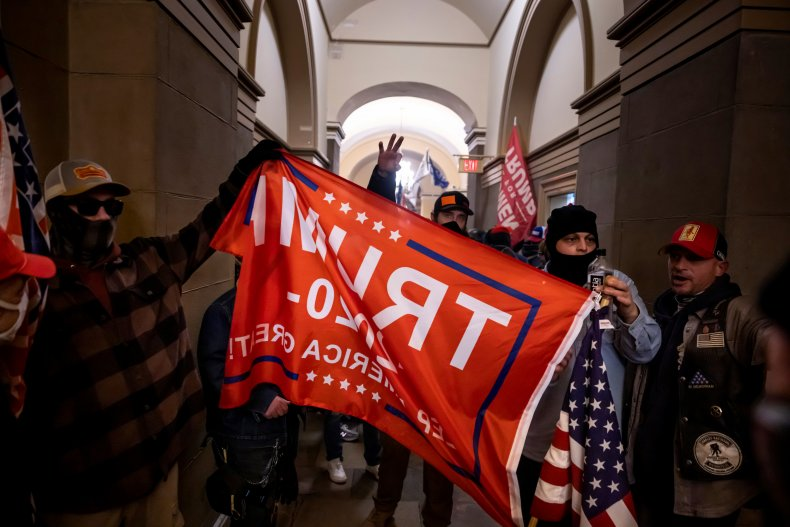 Trump supporters inside the Capitol January 6