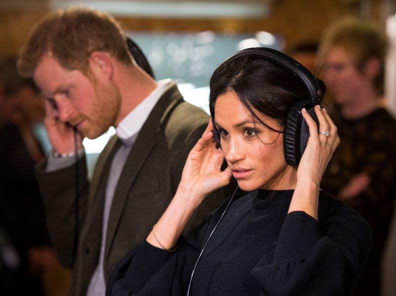 Meghan Markle, Prince Harry Visit Radio Studio