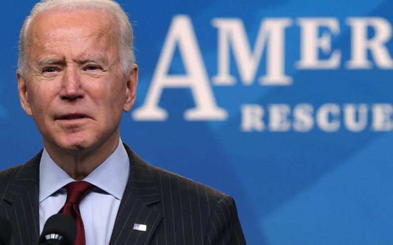 President Joe Biden speaks during an announcement