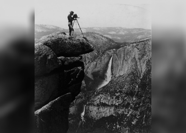 Photographing falls