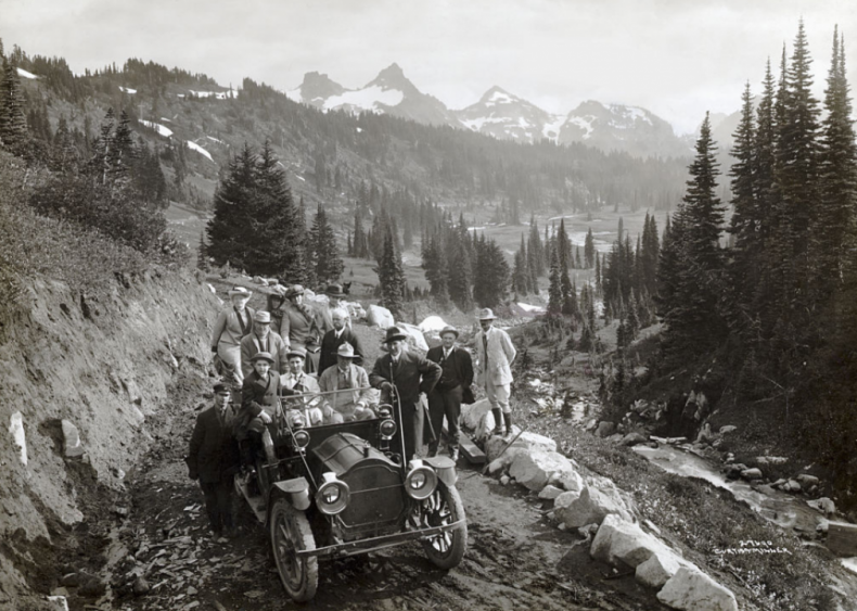 Franklin Lane with group at Mount Rainier