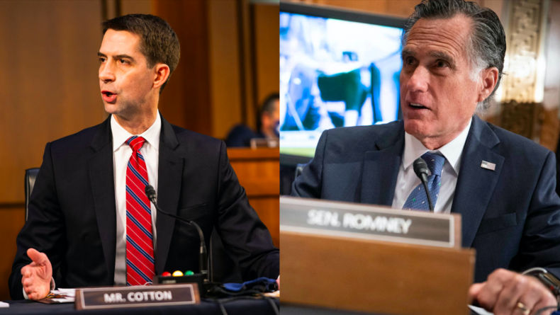Tom Cotton and Mitt Romney