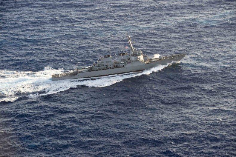 U.S. Navy Warship Sails Through Taiwan Strait