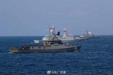 Singapore and China Hold Joint Naval Drills