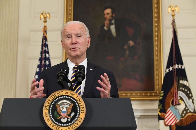 Joe Biden speaks at the White House