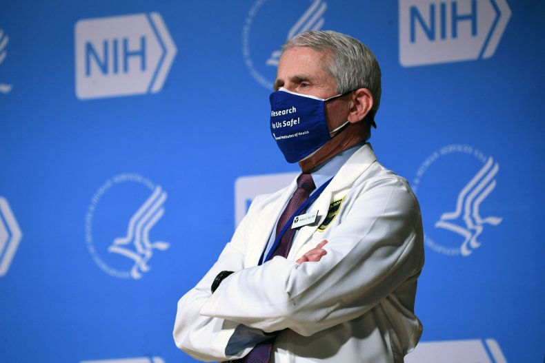 Dr. Fauci at NIH meeting