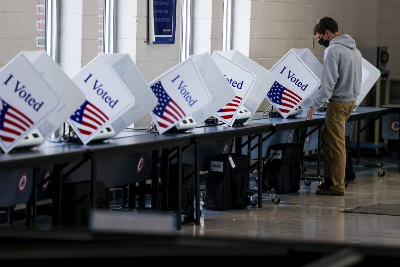 Voter in South Carolina casts ballot 2020