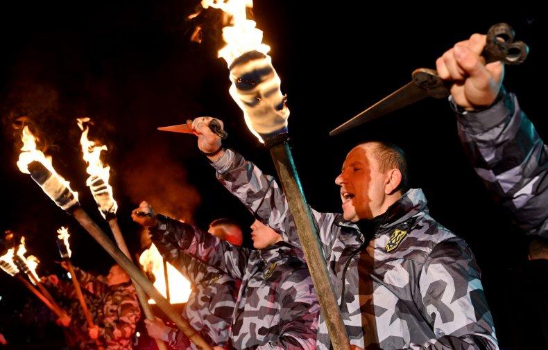 ukraine, far, right, volunteer, squads, rally