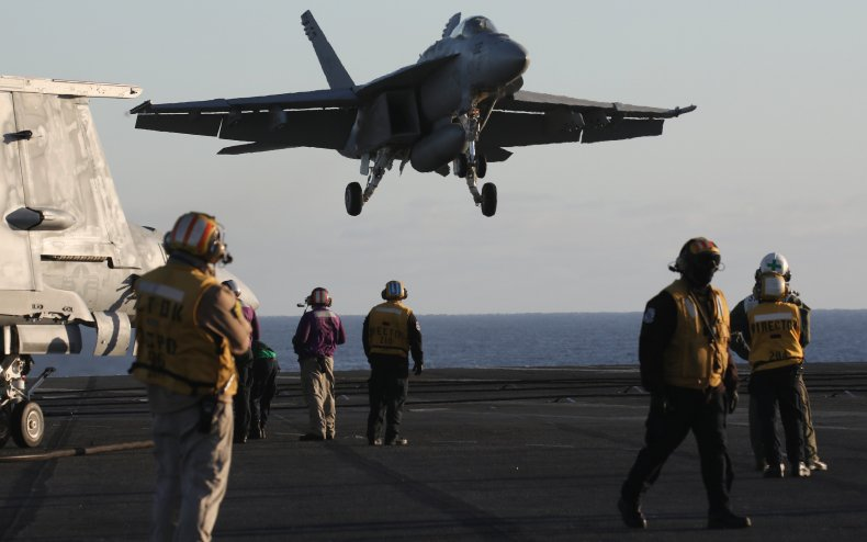 US fighter aircraft carrier near Mexico