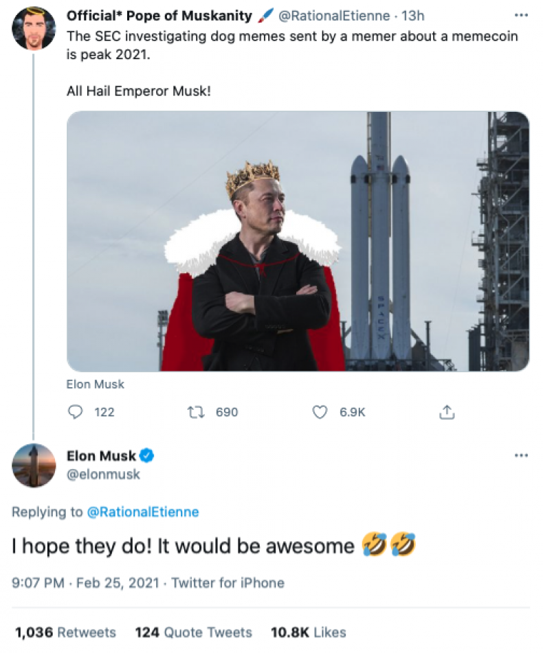 Elon Musk - SEC investigation tweet