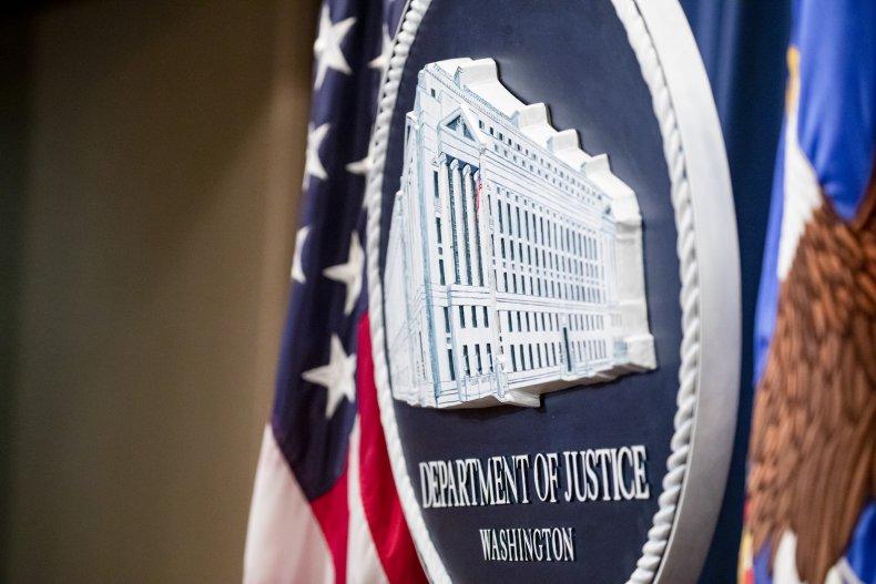 DOJ seal at DOJ in Washington, DC