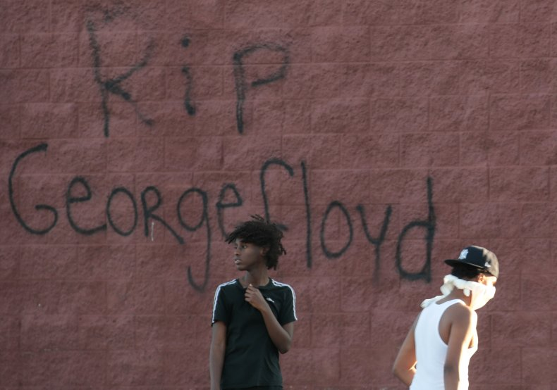 George Floyd graffiti