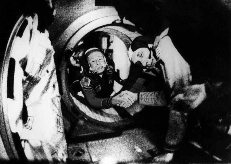 1975: First international manned spaceflight