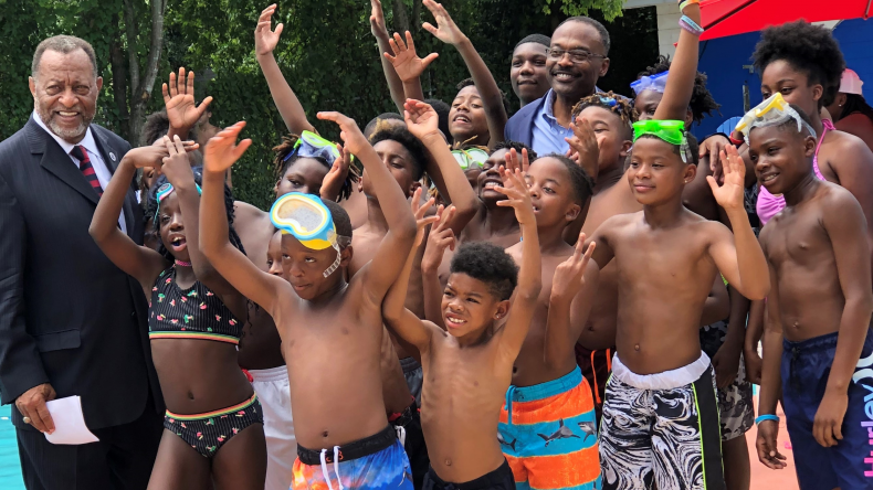 Boys and Girls Club Swimmers