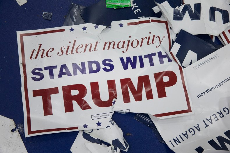 trump sign silent majority texas
