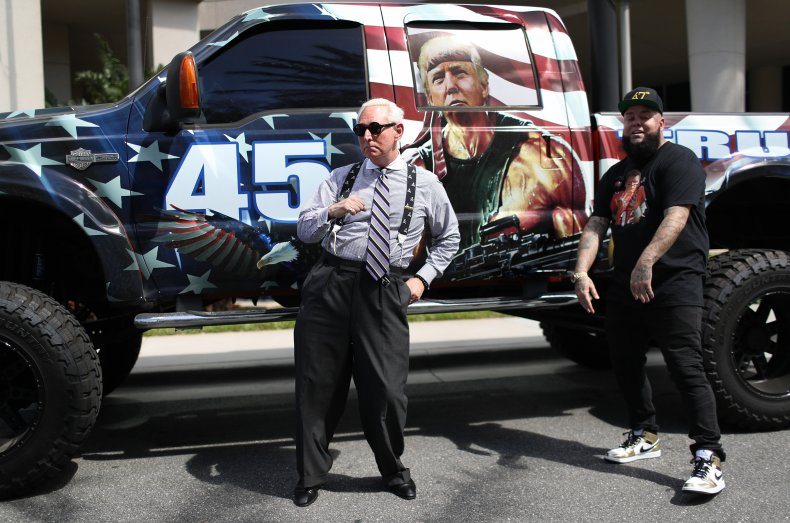 Roger Stone dancing to Trump rap song