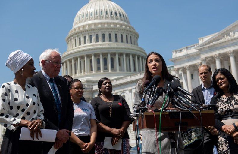 Bernie Sanders, AOC at presser