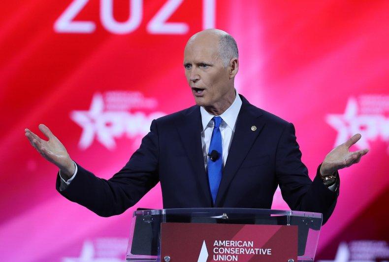 Sen. Rick Scott (R-FL) addresses the Conservative